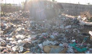 voici l'exemple d'un dépot des déchets à madagascar